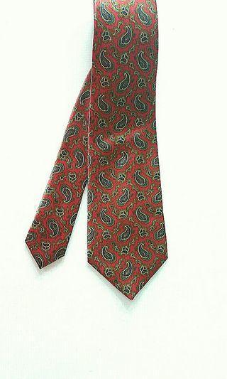 Gieves & Hawkes Silk Red Paisley Tie