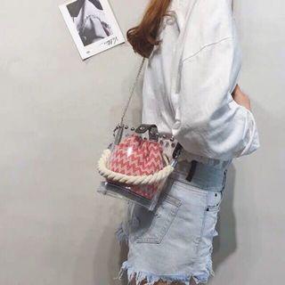 [ Handbag Set ] Fashion 2 in 1 Transparent Sling bag Set #handbag # slingbag #handbagset #slingbagset #CarousellFaster