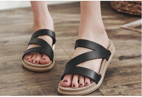 [READYSTOCK] Black women sandal wedges sandals