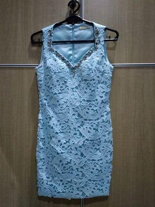 Dress pesta blue