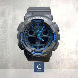 🚚 🔴GSS🔴[✅FREE Shipping]: ✅💯Authentic Casio G-Shock Extra Large Series GA100-1A2 Watch - Resin Strip