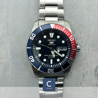 🔴GSS🔴[✅FREE Shipping]: ✅💯Authentic Seiko 5 Sports Pepsi Automatic Men's Stainless Steel Watch SNZF15K1