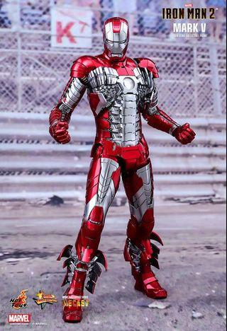 Hottoys ironman Mark V 5 合金 全新
