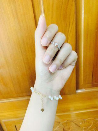 天然淡水珍珠 s925銀 手工 戒指 手鍊