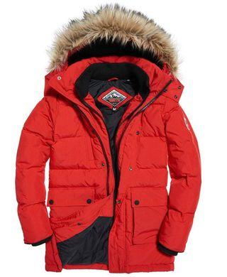 (NWT) Superdry red parka jacket
