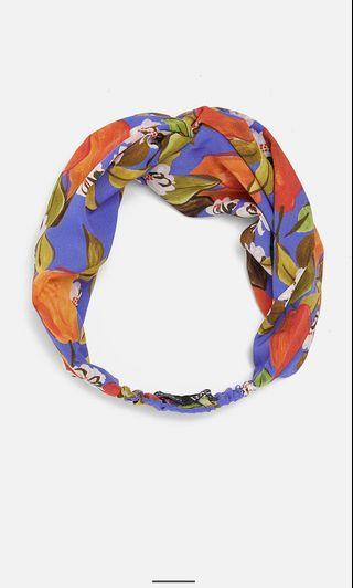 Zara printed turban style hairband