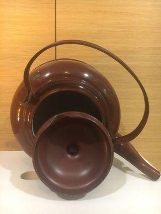 Vintage Maroon Tea Kettle Made in Czechoslovakia