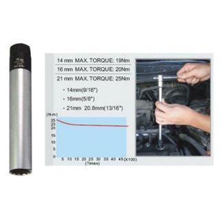 "16mm  12 points Spark Plug Socket c\w 3/8"" drive Torque Limiting Socket."