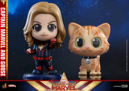 Hottoy cosbaby Captain Marvel Goose set avengers