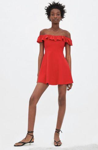 Zara short ruffled dress