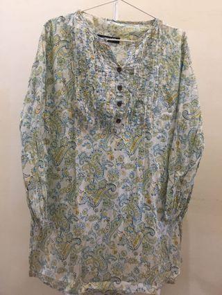Paisley blouse labuh