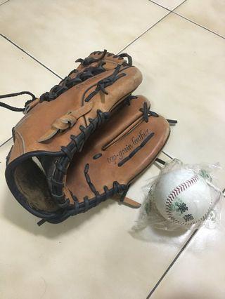 棒球手套 + 全新棒球