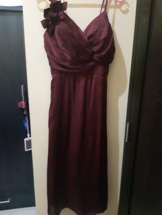 Night Gown/Dress Maroon Premium