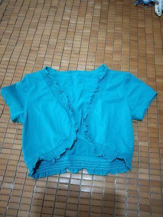 夏天涼伴:綠色棉質小外套