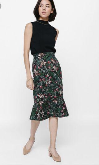 Love bonito Felda Floral Foldover Trumpet Skirt