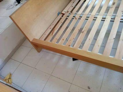 Bed frames with mattress
