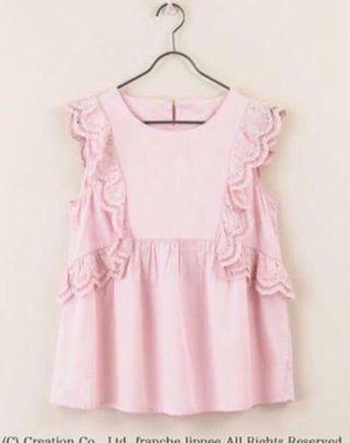 ❤️一口價$590 Franche Lippee 全新 兔刺繡布蕾絲 上衣