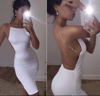 Rhinestone backless dress