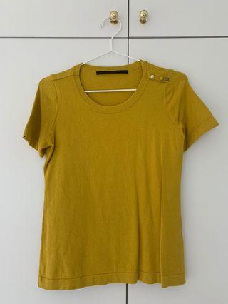 Giordano ladies mustard color top