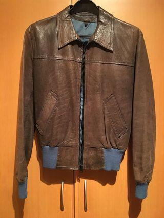 Sale! $200! Leather Jacket (made in England) chest 100 cm