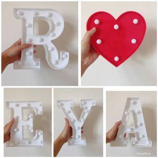 求婚/告白用 字母燈/愛心燈