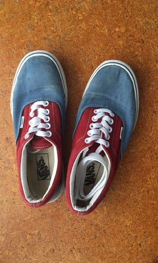 Red and blue vans