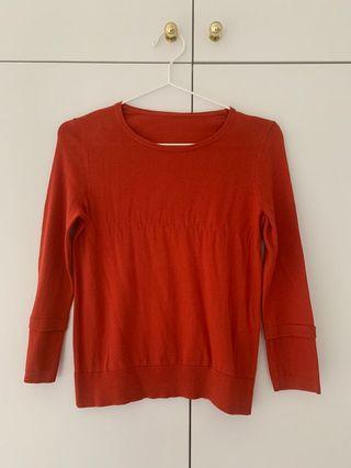 Giordano ladies red top