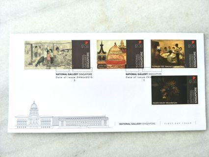 National Gallery FDC stamps