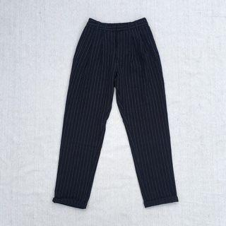 UO Navy Pinstriped Trousers