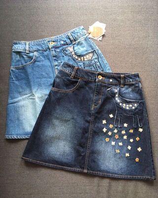 ❤️一口價$450 Franche Lippee 小鹿森林 刺繡 牛仔裙 Denim Skirt