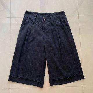 Wide leg 3/4 pants