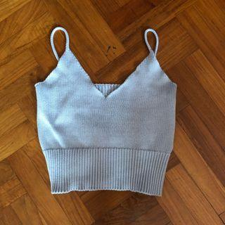 Brandy Melville knitted crop top