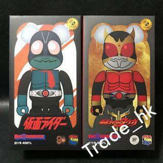19年7月新貨!全新未開封 Medicom Toy Bearbrick Be@rbrick 400% 幪面超人 假面超人 Kamen Rider 舊一號 / 古迦