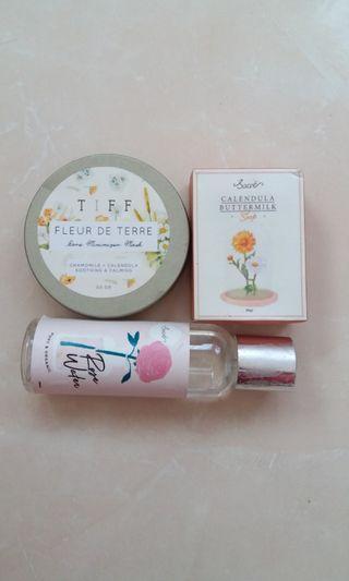 Fleur de Terre Mask + Sacre Rose Water &Calendula Buttermilk Soap