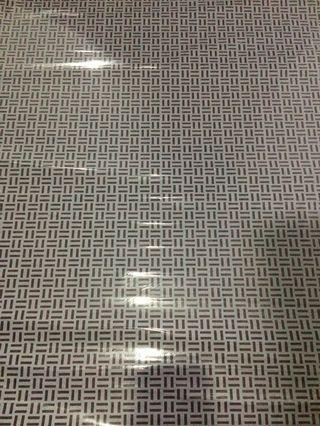 Sticker Kaca Motif Strap Kecil Putih