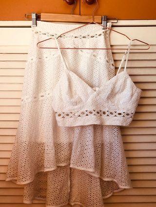 Bardot white set size 6