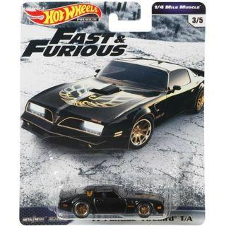 Hotwheels 2019 Fast & Furious '77 Pontiac Firebird TA Premium 1/4 Mile Muscle Car Culture Rare Hot Wheels