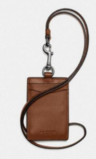 ❤Authentic Coach ID Lanyard in calf leather