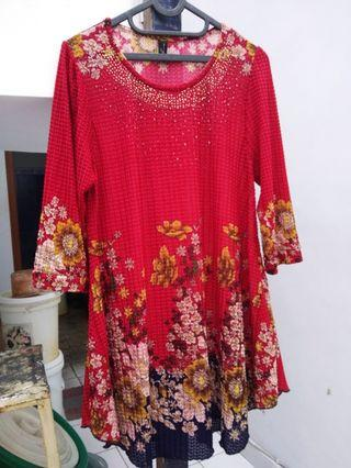 Blouse Red Flower
