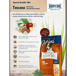Happy Dog Supreme - Mini Toscana. Duck Salmon - 1KG ( 1 plus 1 FOC )