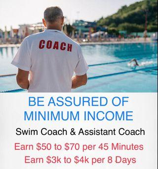 Kids Swimming Coach or Assistant Coach as a Career