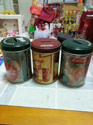 Coca Cola 可口可樂 - 錢罐3個