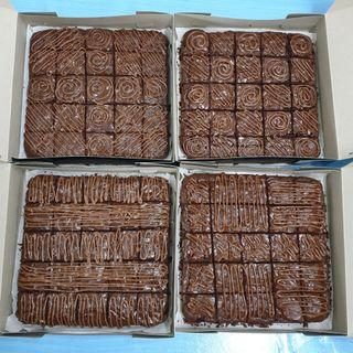 Brownies with nutella topping murah sedap