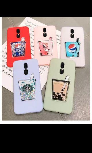 Po floating liquid drink phone case