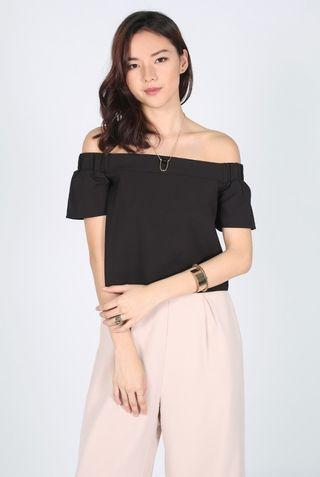 Love Bonito Ocyale Off Shoulder Top (black)