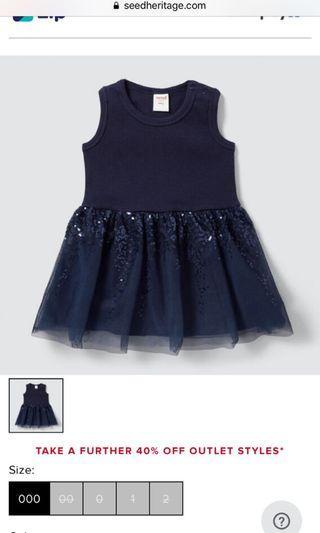 Seed heritage navy tutu dress