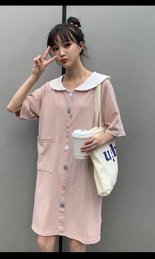粉紅色連身裙 連衣裙