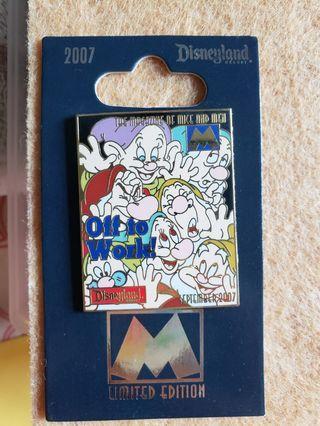 Snow white 小矮人 disney pin