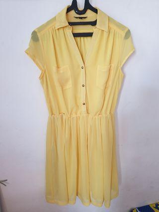 The Executive Yellow Dress