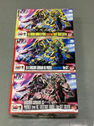 全新 banbai hg 1/144 東京台場 限定 unicorn gundam  三盒